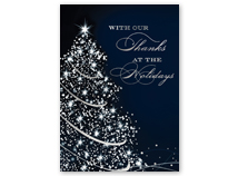 Sparkling Thanks Holiday Greeting Cards