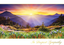 Mountain Sunset Sympathy Card